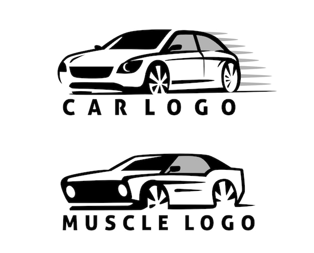Autosymbol-logo-vorlage, stilisiert.