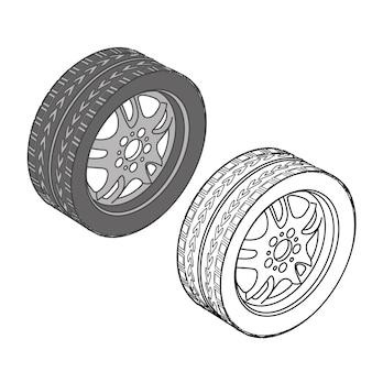 Autoteile symbole isometrischer vektor