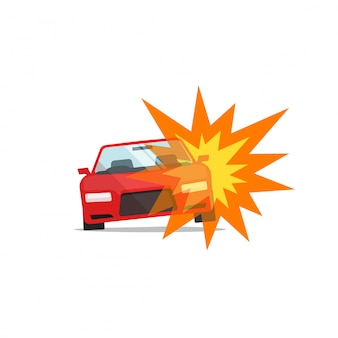 Autounfall oder feuerunfall