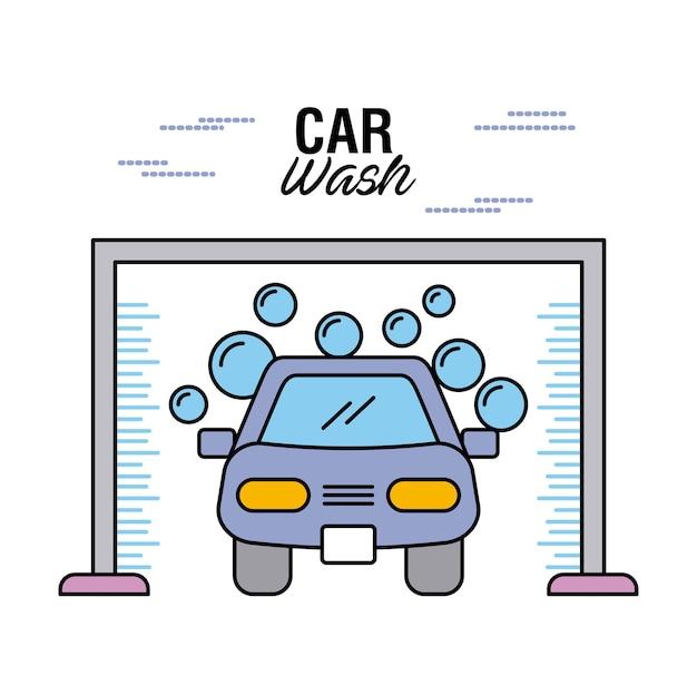 Autowäsche löschen auto-shampoo-wasserblase