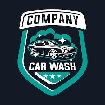 Autowäsche-logo mit oldtimer