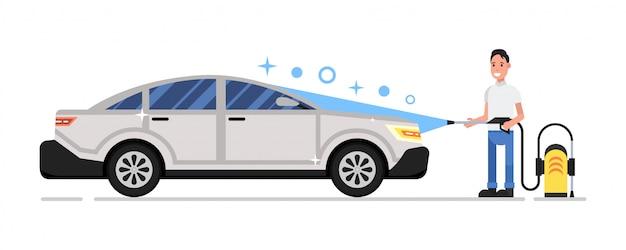 Autowaschservice Premium Vektoren
