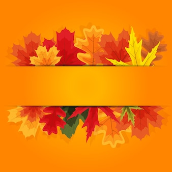 Autumn natural leaves.