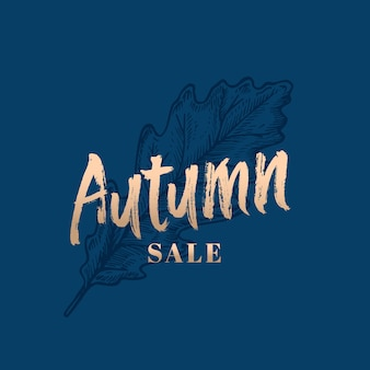 Autumn sale abstract retro label, zeichen oder kartenvorlage.
