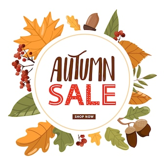 Autumn sales banner vorlage.