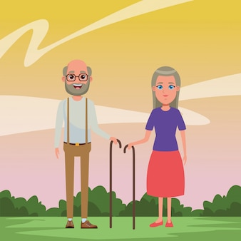 Avatar-cartoon-figur für ältere menschen