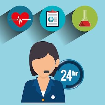Avatar charakter des gesundheitspflegefachmannes