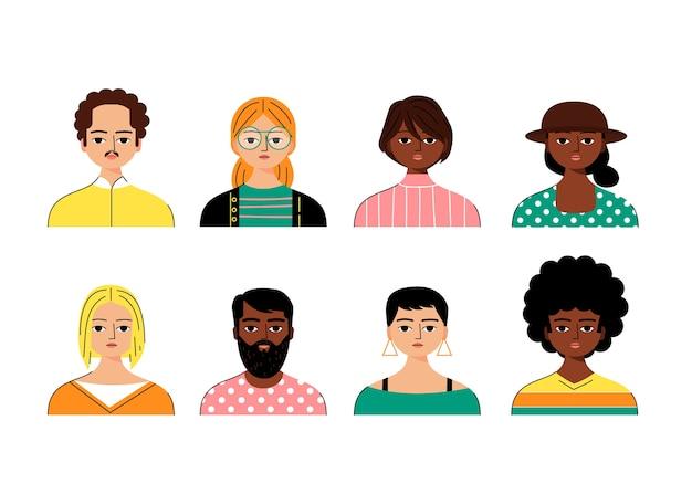 Avatare multikultureller menschen