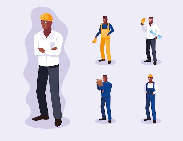 Avatare reihe von professionellen arbeitnehmern
