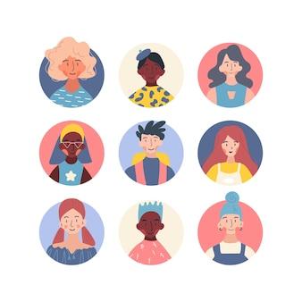 Avatarsammlung von personen mit unterschiedlichem berufsprofil.