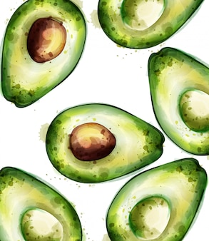 Avocado-aquarell