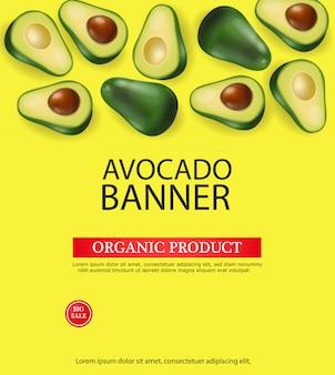 Avocado-banner-vorlage