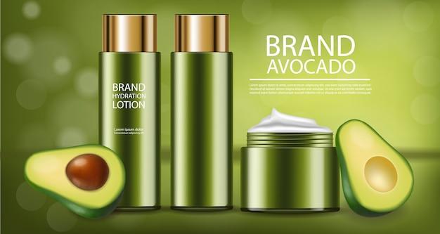 Avocado-creme-produktkollektion