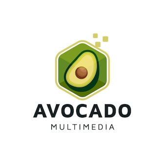 Avocado digital cube logo design