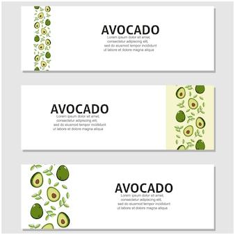 Avocado-frucht im flachen design