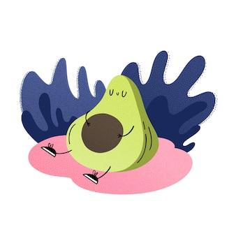 Avocado im urlaub in der natur.