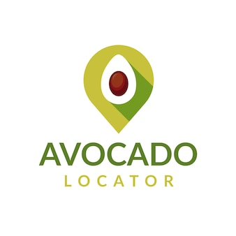 Avocado locator logo design