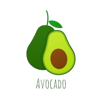 Avocado mit frischem obst.