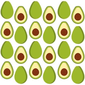 Avocado trägt hintergrunddesign früchte