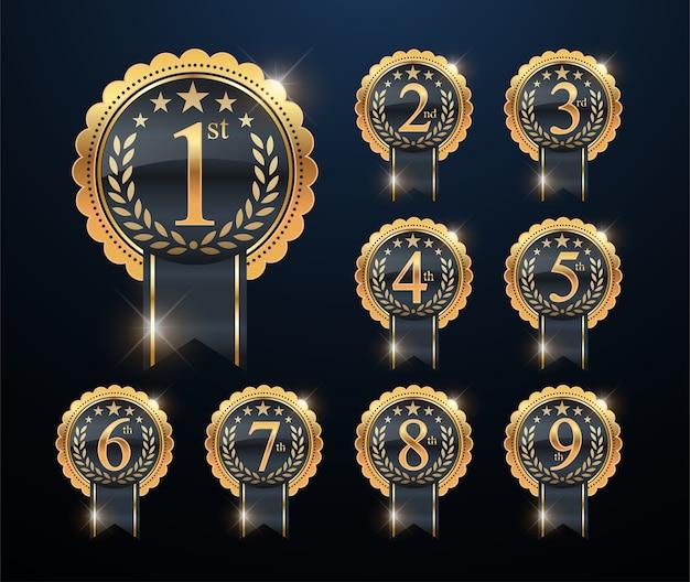 Award goldenes etikett von first