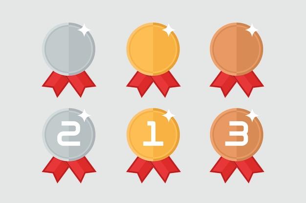 Award medaillen gesetzt