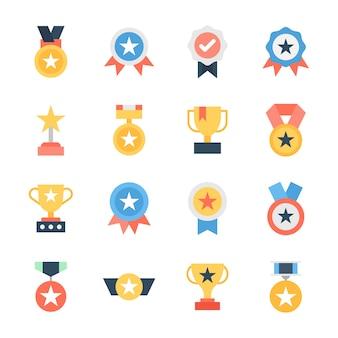 Award und trophäen icons pack