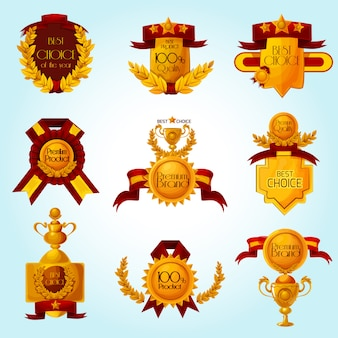 Award-verkauf-embleme