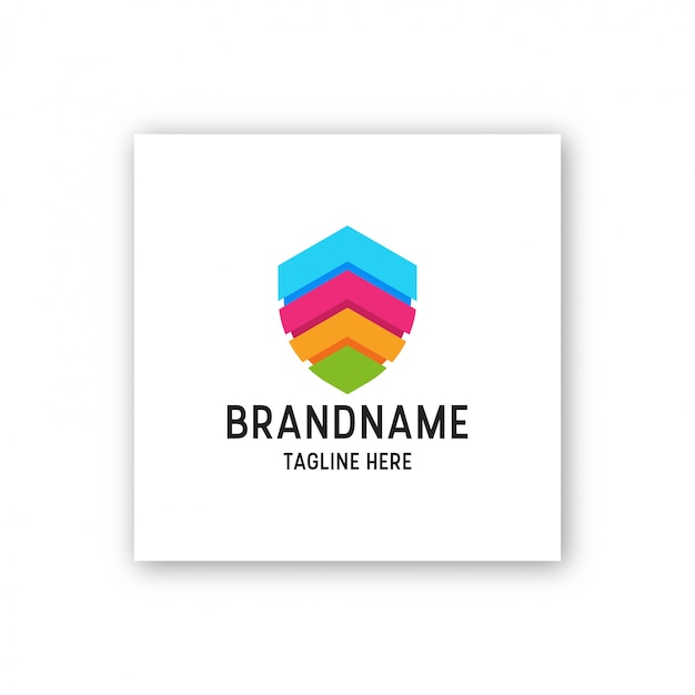 Awesome schild vollfarbige logo-design-vorlage illustration