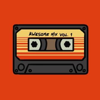 Awsome mix tape-vektor-illustration
