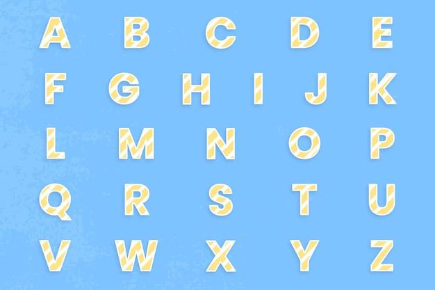 Az alphabet gesetzter typografievektortyp Kostenlosen Vektoren