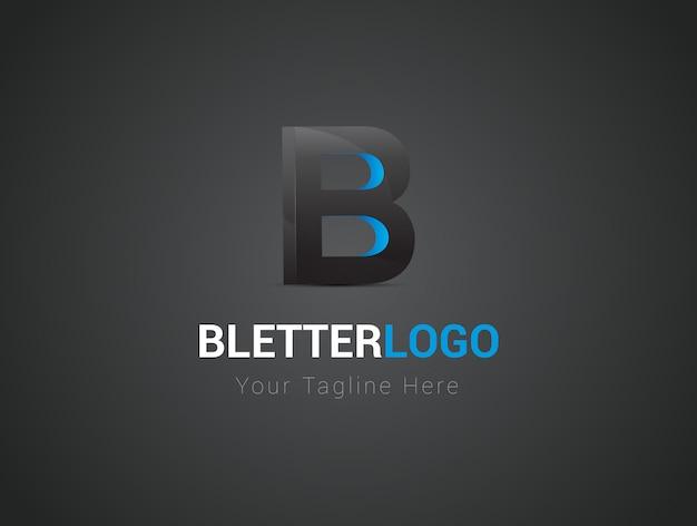 B buchstabe 3d-logo