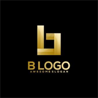 B-buchstaben-luxus-logo-farbverlauf
