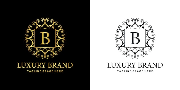 B-logo luxus-ornament-emblem