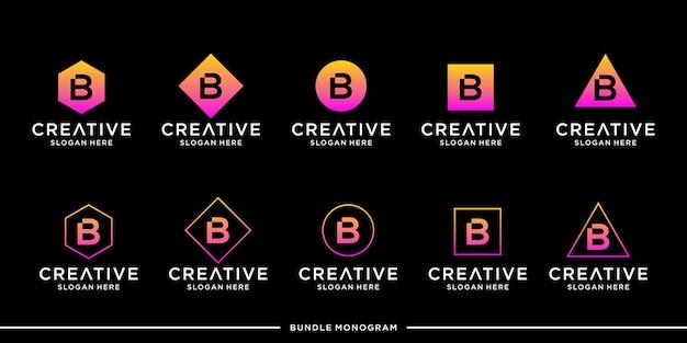 B logo set vorlage premium premium