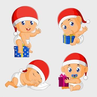 Baby am weihnachtsset