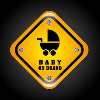 Baby an bord design