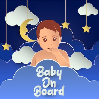 Baby an bord. vektor-illustration
