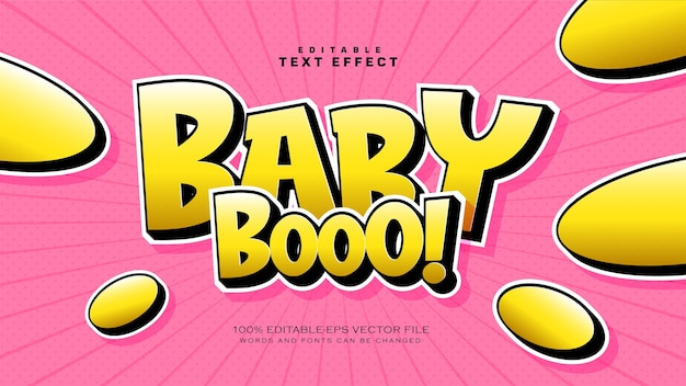 Baby boo text style effekt