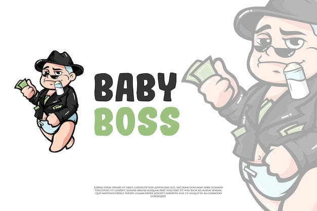 Baby boss logo-design