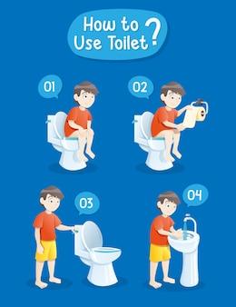 Baby, das toilette verwendet