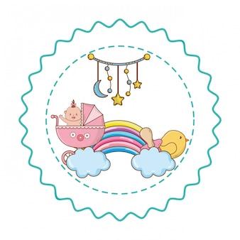 Baby-dusche-abbildung