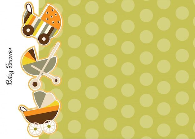 Baby-dusche ankündigung karte mit kinderwagen