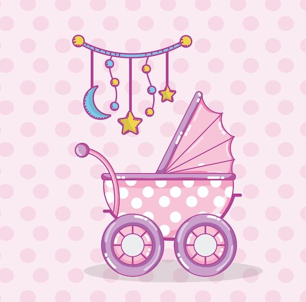 Baby-dusche-cartoons