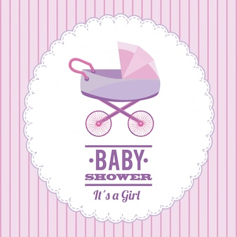 Baby-dusche einfaches element