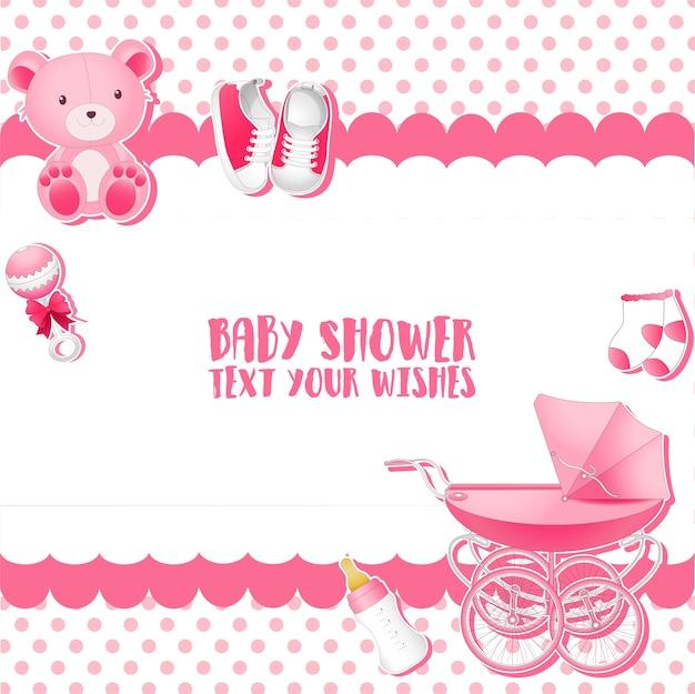 Baby-dusche einladung kartenvorlage