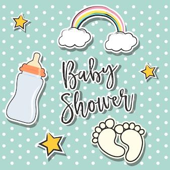 Baby-dusche hintergrund-design