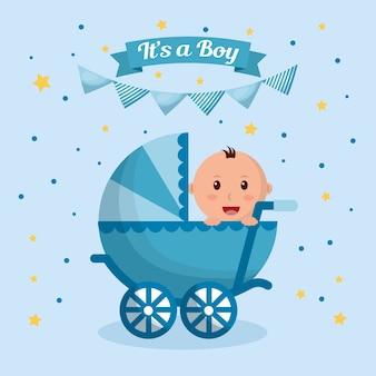 Baby-dusche-junge