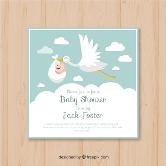 Baby-dusche-karte einladung