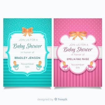 Baby-dusche-karten-sammlung