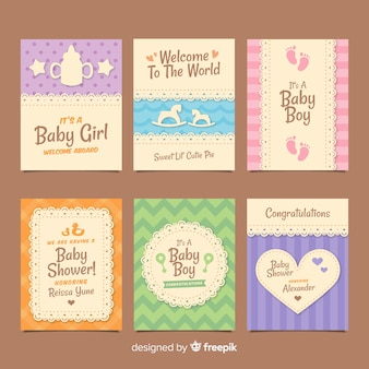 Baby-dusche-kartenpackung